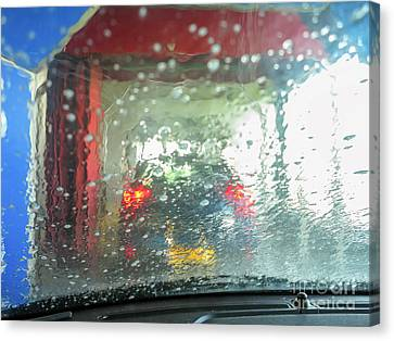 At The Car Wash Canvas Print by Patricia Hofmeester