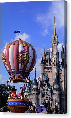 At The Cinderella Castle  Canvas Print by Zina Stromberg