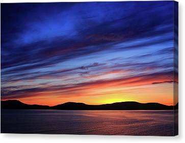 Closing Of The Day Canvas Print