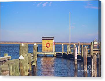 Canvas Print featuring the photograph At The Dock by Colleen Kammerer
