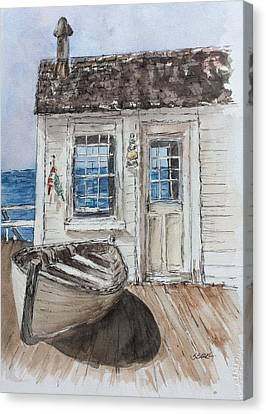 At The Dock Canvas Print by Stephanie Sodel