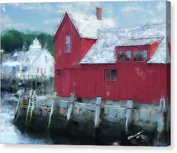 At The Docks Canvas Print by Eddie Durrett