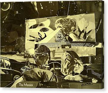 Pop Culture Canvas Print - At The Drive In Movie by Damon Gray