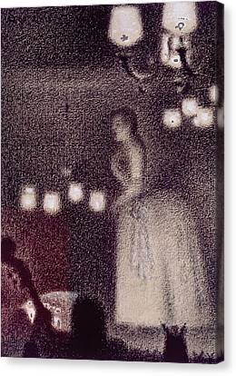 At The Eden Concert Canvas Print by Georges Pierre Seurat
