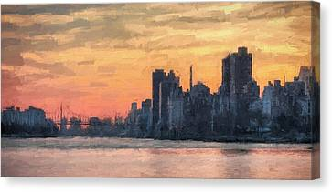 At The Edge Of Night Canvas Print by JC Findley