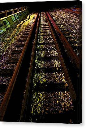 Canvas Print - At The End Of A Railroad Track by Guy Ricketts