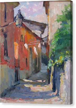 Lake Como Canvas Print - At The End Of The Alley by Jerry Fresia