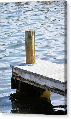 At The End Of The Dock Canvas Print by Tamra Lockard