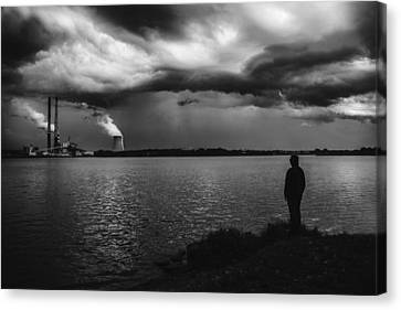 At The End Of The World Canvas Print by Art of Invi