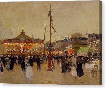 At The Fair  Canvas Print by Luigi Loir