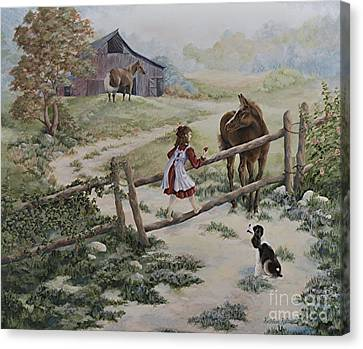 At The Farm Canvas Print by Kathleen Keller