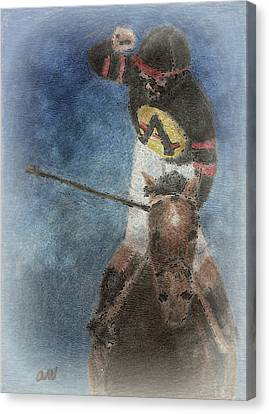 At The Finish Line Canvas Print by Arline Wagner