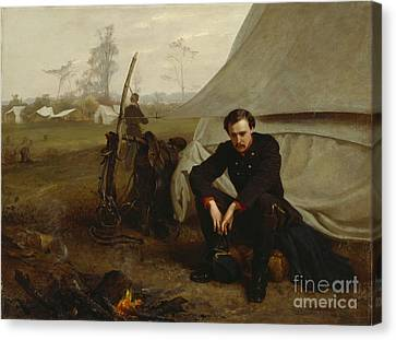 At The Front Canvas Print by George Cochran Lambdin