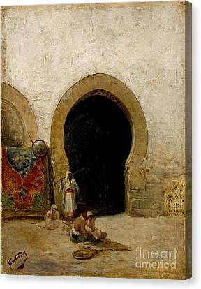 At The Gate Of The Seraglio Canvas Print by Celestial Images