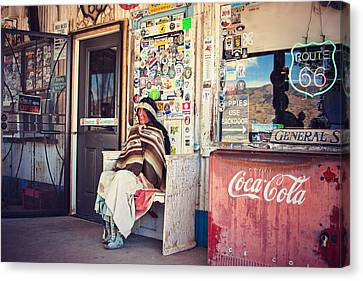 At The Hackberry General Store Canvas Print