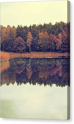 At The Lake Canvas Print by Art of Invi