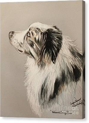 Working Dog Canvas Print - At The Master's Bidding by Carolyn Valcourt
