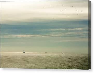 At The Mouth Of The Columbia Canvas Print by Todd Klassy