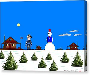At The North Pole.  Canvas Print by Richard Magin