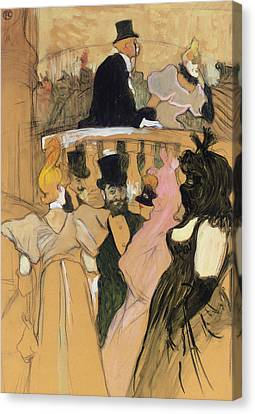 At The Opera Ball Canvas Print by Henri de Toulouse-Lautrec