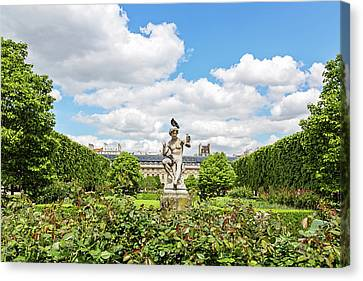 Canvas Print featuring the photograph At The Palais Royal Gardens by Melanie Alexandra Price