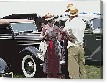 At The Races, 1937 Style Canvas Print