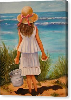 At The Seashore Canvas Print by Joni McPherson