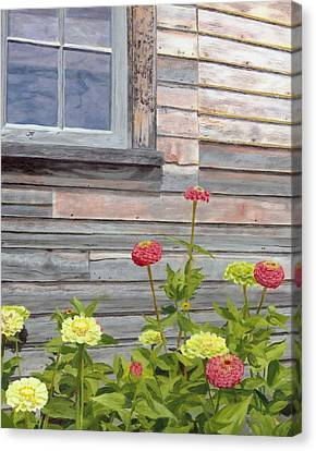 Canvas Print featuring the painting At The Shelburne by Lynne Reichhart