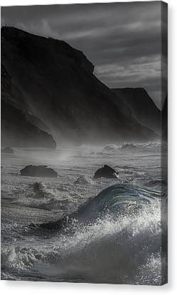 At The Sight Of The Wave Canvas Print