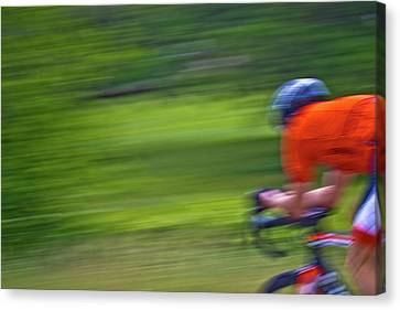 Canvas Print featuring the photograph At The Speed Of Light by Linda Unger