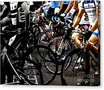 At The Starting Wait Canvas Print by Steven Digman