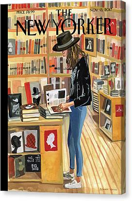 Store Canvas Print - At The Strand by Jenny Kroik