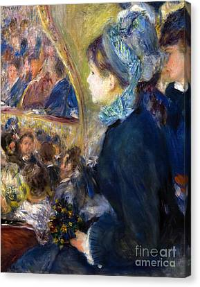 At The Theatre, By Pierre-auguste Renoir, 1876-7, National Galle Canvas Print by Peter Barritt