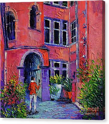 At The Tour Rose - Lyon France Canvas Print by Mona Edulesco