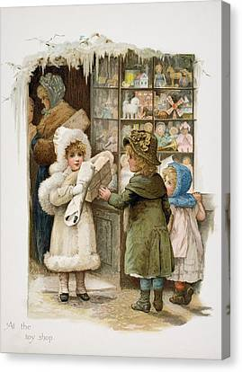 At The Toy Shop Canvas Print by Vintage Design Pics