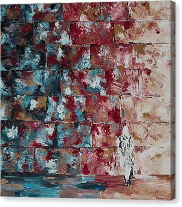 Kotel Canvas Print - At The Wall by Devora Davidowitz