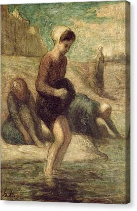 At The Water's Edge Canvas Print by Honore Daumier