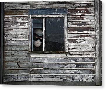 At The Window Canvas Print