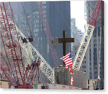 At The World Trade Center Disaster Site Canvas Print by Everett