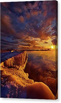 Canvas Print featuring the photograph At World's End by Phil Koch