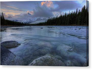 Athabasca River Sunrise Canvas Print