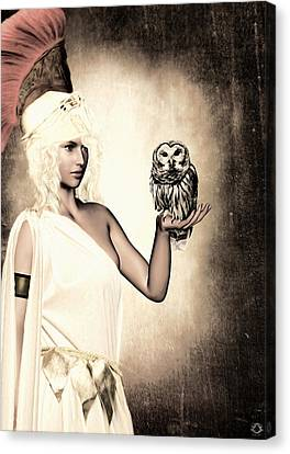 Athens Canvas Print - Athena by Lourry Legarde