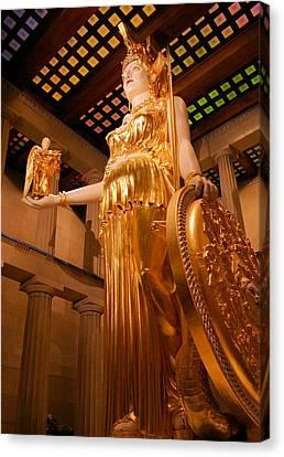 Athena With Nike Canvas Print