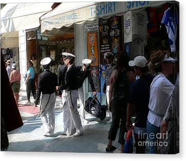 Athens Sailors Canvas Print by David Bearden