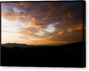 Athens Sunset Canvas Print by Julia Bridget Hayes