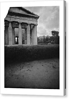 Athens Temple Of Ephesus Canvas Print by Luca Baldassari