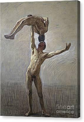 Athletes Canvas Print by Eugene Jansson