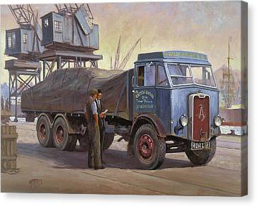 Atkinson At The Docks Canvas Print by Mike  Jeffries