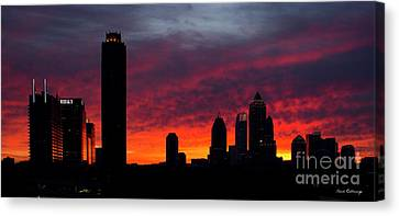 Atlanta Ablaze Midtown Atlanta Sunrise Art Canvas Print