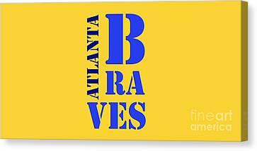 Atlanta Braves Original Sign Canvas Print